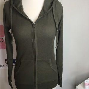 NWT thermal zip up hoodie.